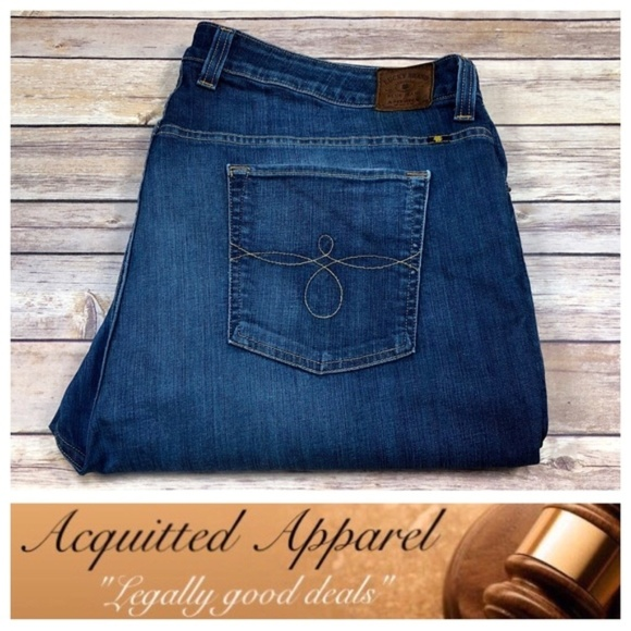 Lucky Brand Denim - Lucky Brand Plus Size Ginger Straight Jeans Dark